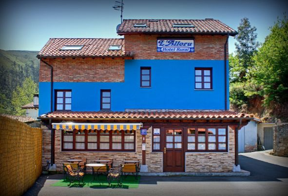 fachada posterior del hotel rural alloru